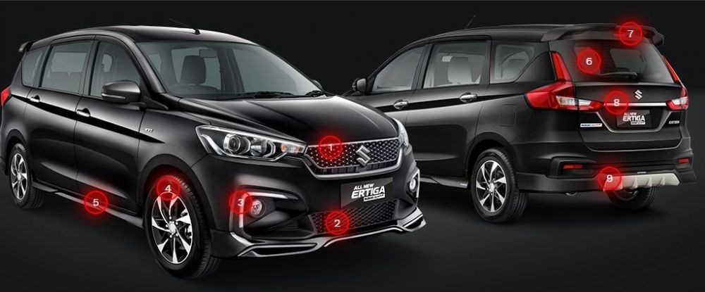 Exterior Suzuki All New Ertiga Sport