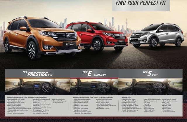 Pilihan Tipe dan Harga Honda BRV